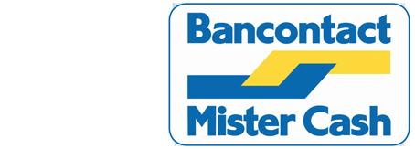 Logo van betaalmogelijkheid Bancontact/Mister Cash