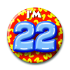 Afbeelding van Button 22 jaar