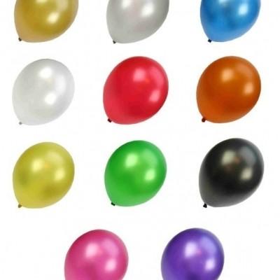 Foto van Kwaliteitsballon metallic assortie kleur per 50 (Ø 14 inch / 36 cm)