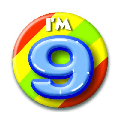 Foto van Button 9 jaar