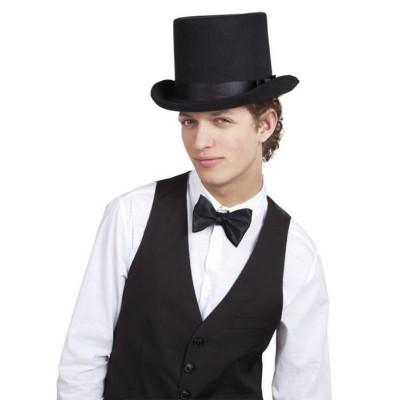 Hoed Byron zwart Hoge hoed (zware kwaliteit)
