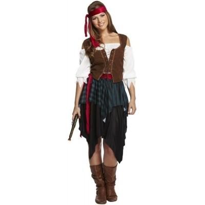 Piraten vrouw volwassen maat