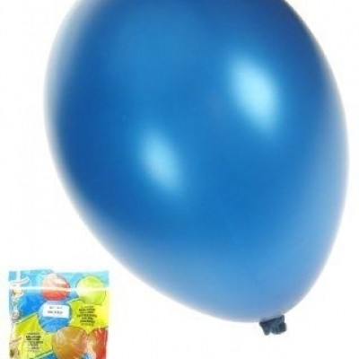 Foto van Kwaliteitsballon metallic blauw per 50 (Ø 14 inch / 36 cm)