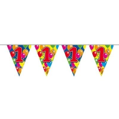 Foto van Vlaggenlijn balloons 1 jaar 10m/stk