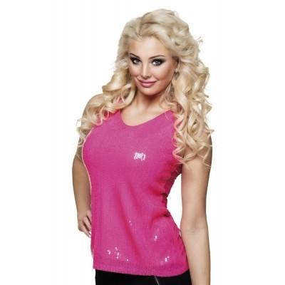 Roze glitter top