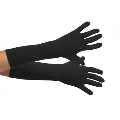 Foto van Handschoenen zwart lang 40cm