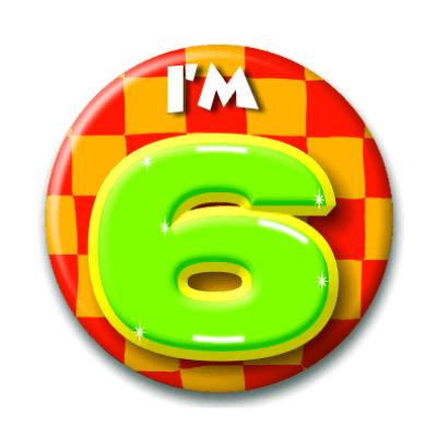 Foto van Button 6 jaar