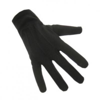 Handschoenen katoen kort zwart luxe (Piet)
