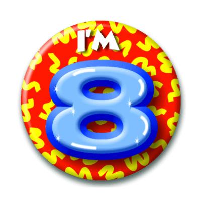 Foto van Button 8 jaar