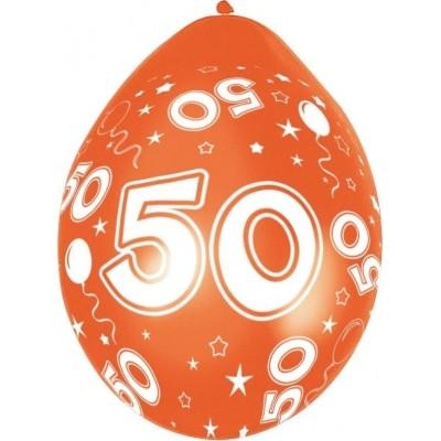 Ballonnen 50 jaar 5 stuks