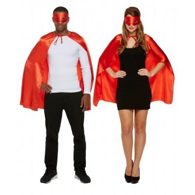 Foto van Superhelden cape met masker rood