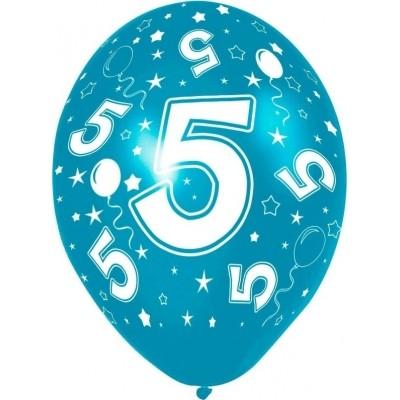 Ballon 5 jaar 5 stuks