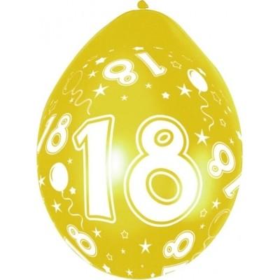 Ballonnen 18 jaar 5 stuks