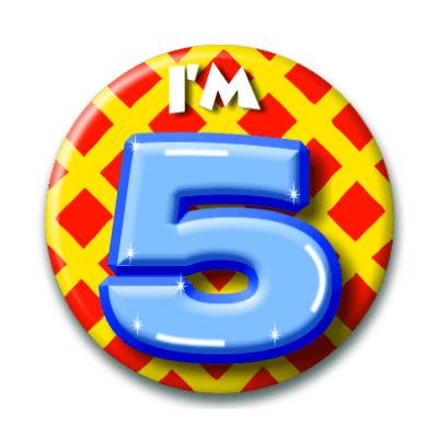 Foto van Button 5 jaar