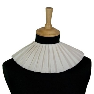 Foto van Zwarte Piet kraag crepepapier wit 3 laag