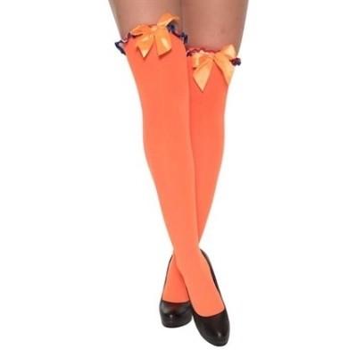 Foto van Kousen oranje met strik rood/wit/blauw