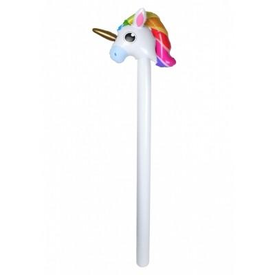 Foto van Opblaas Unicorn stokpaardje 110 cm