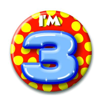 Foto van Button 3 jaar