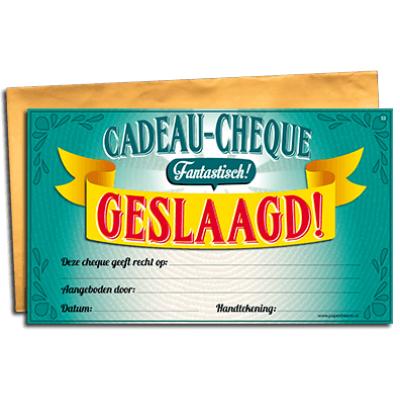 Foto van Geslaagd cheque