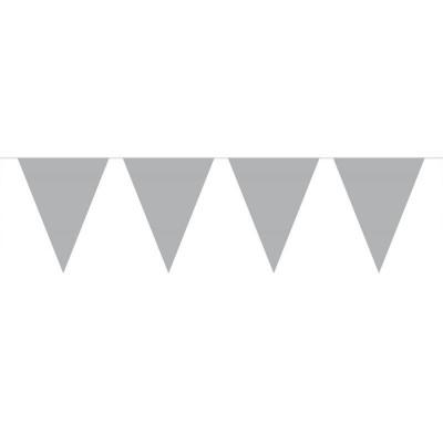 Vlaggenlijn Effen Zilver /10mtr