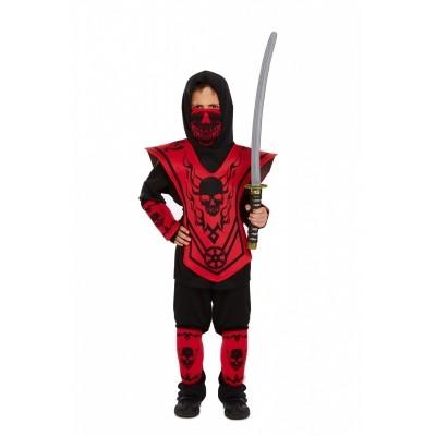 Ninja kostuum kind rood
