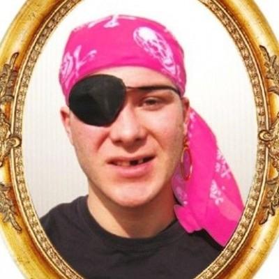 Foto van Piratendoek roze