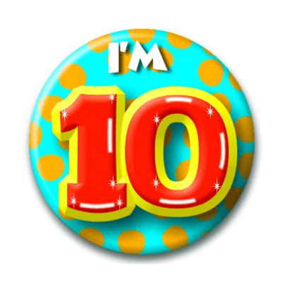 Foto van Button 10 jaar
