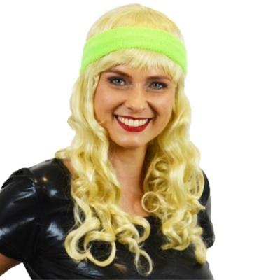 Foto van Zweetband hoofd neon groen