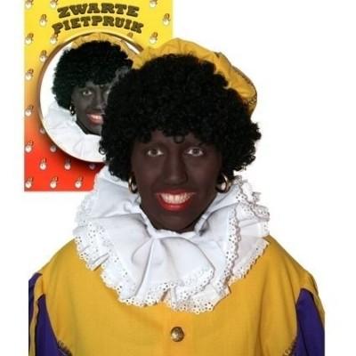 Foto van Zwarte Piet pruik zwart