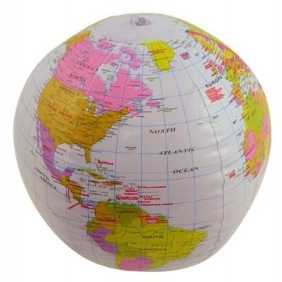 Opblaas Wereldbol 40 cm