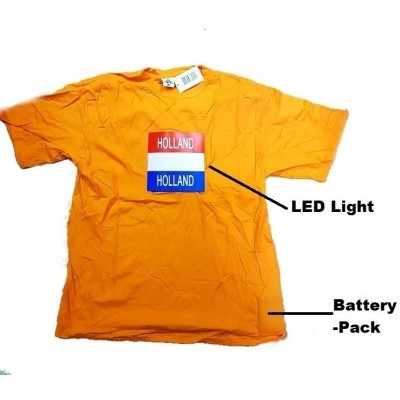 Foto van T-shirt oranje Holland LED