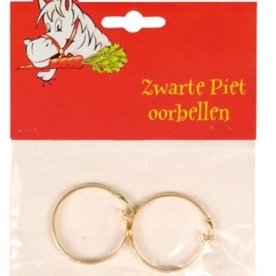 Foto van Zwarte Piet oorbellen goud
