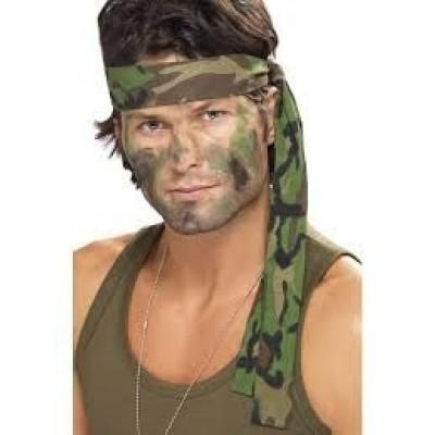 Foto van Rambo camouflage hoofdband