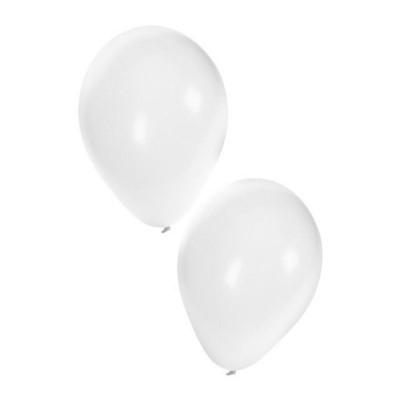 Foto van Ballonnen wit 50 stuks 10inch