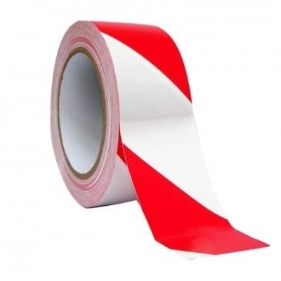 Foto van Afzetlint rood/wit gestreept 100 m.