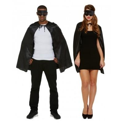 Foto van Superhelden cape met masker zwart