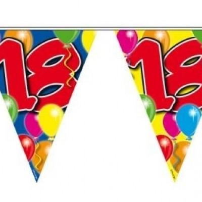 Vlaggenlijn balloons 18 jaar 10M