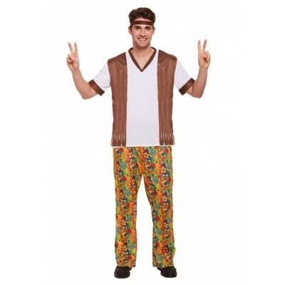 Foto van Hippie kostuum man