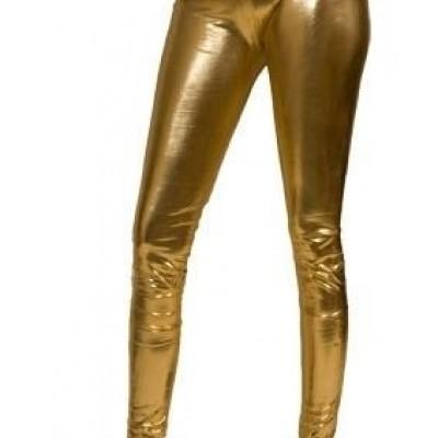 Legging lamee goud L/XL