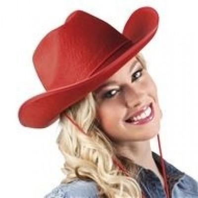 Foto van Hoed vilt Cowboy rood