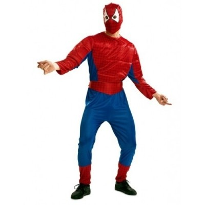Foto van Spiderman kostuum gespierde torso