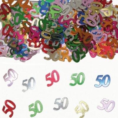 Tafeldecoratie/sier-confetti 50 /st