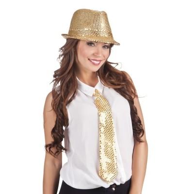 Tie Spangles gold 40cm