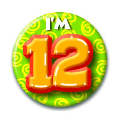 Foto van Button 12 jaar