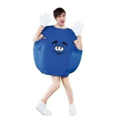 Foto van M&M pak blauw volwassen maat