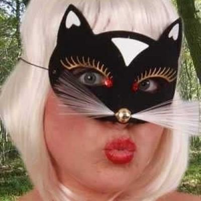 Foto van Oogmasker kat luxe zwart klein