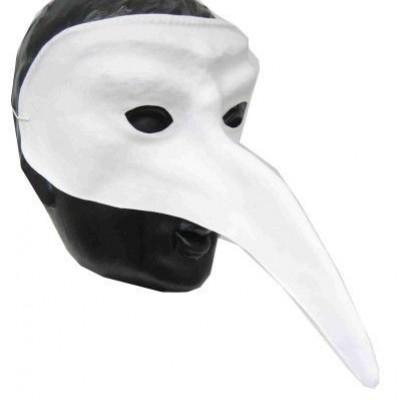 Foto van Snavelmasker plastic venetie wit