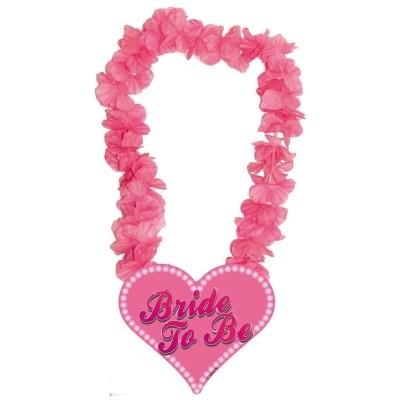 Foto van Hawai krans Roze Bride to Be/stk