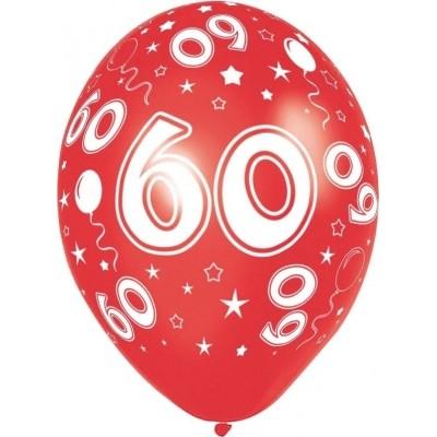 Foto van Ballonnen 60 jaar 5 stuks