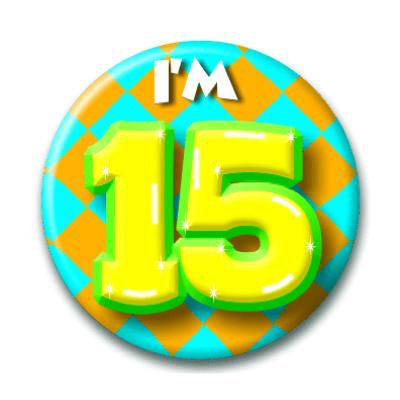 Foto van Button 15 jaar